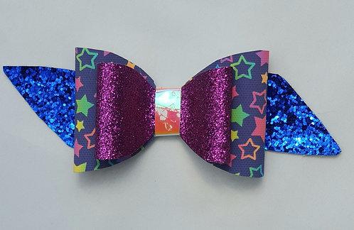 Stars Glitter Double Bow