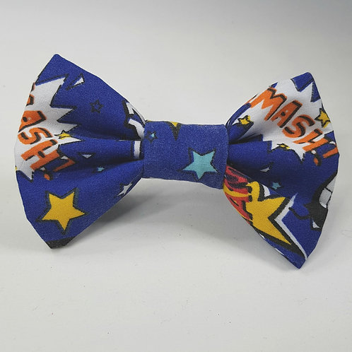 Comic NAVY Dog Bow Tie