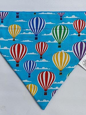 HOT Air Balloon Turquoise Over Collar Dog Bandana