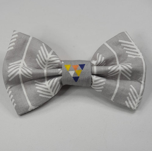 Grey Arrow Dog Bow Tie