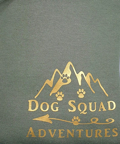 Personalised Dog Squad Adventures SWEATSHIRT KHAKI