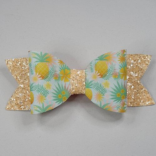 Pineapple Glitter/Vinyl Bow