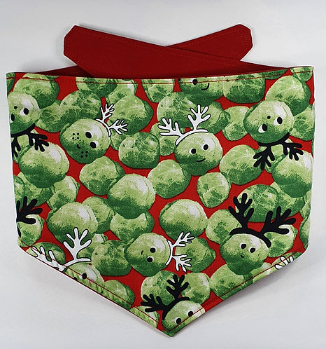 Xmas Sprout REVERSIBLE POPPER DOG BANDANA