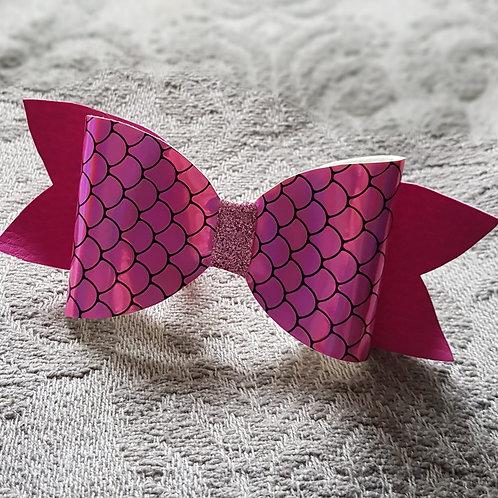 Mermaid PINK Leatherette/Vinyl BOW