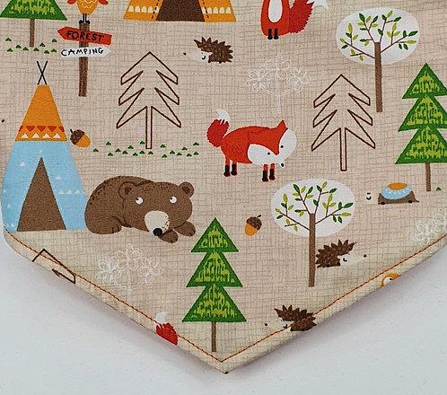 Forest Bear Over Collar Dog Bandana
