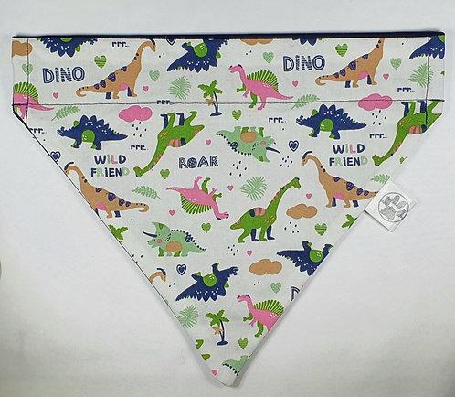 Wild Friends Dino Over Collar Dog Bandana