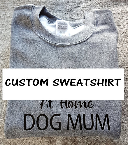 WITH INSTA REVERSE CUSTOM PRINT Sweatshirt PLEASE MESSAGE BEFORE ORDERING