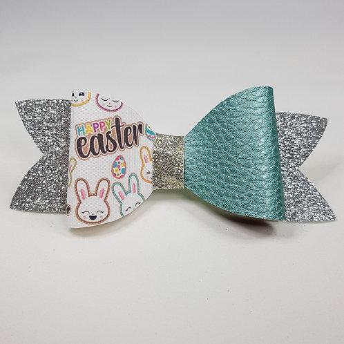 Easter Bunny MINT Glitter/Vinyl Bow