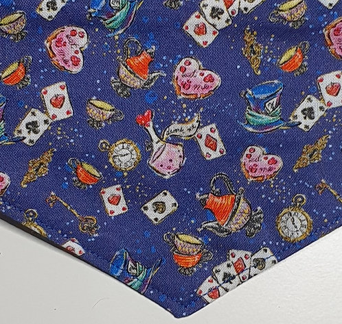 Wonderland Blues Over Collar Dog Bandana