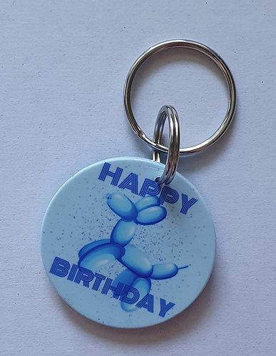 Birthday Blue Dog Tag