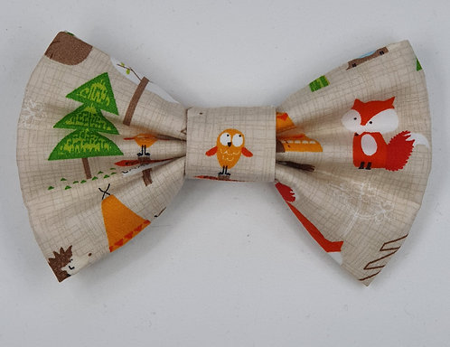 Forest Bear Dog Bow Tie