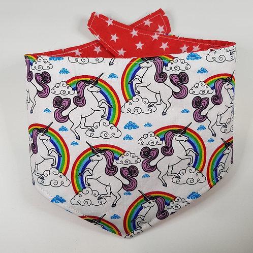 Nhs charity Rainbow Unicorn REVERSIBLE POPPER DOG BANDANA