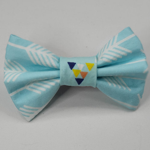 Aqua Arrow Dog Bow Tie