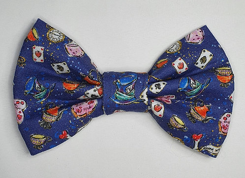 Wonderland Blues Dog Bow Tie