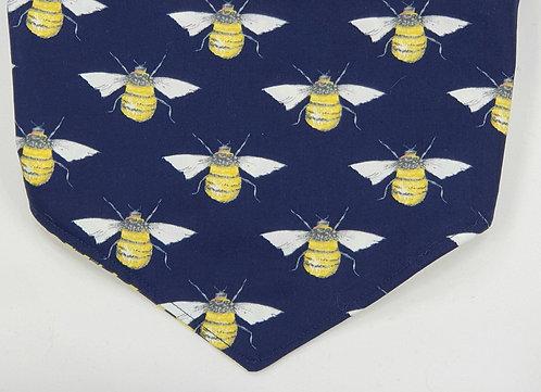 Bee PrintPrint Reversible Popper Dog Bandana