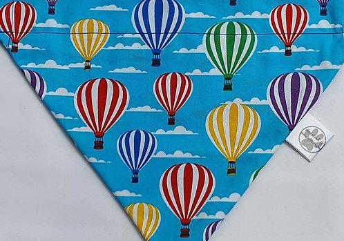 Hot Air Balloon Turquoise REVERSIBLE POPPER DOG BANDANA