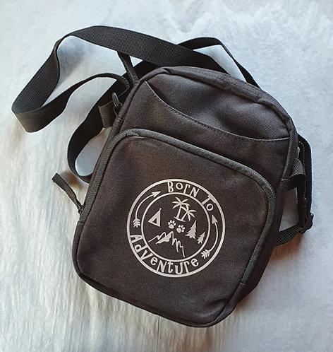 Zipped Cross Body Bag - Born To Adventure