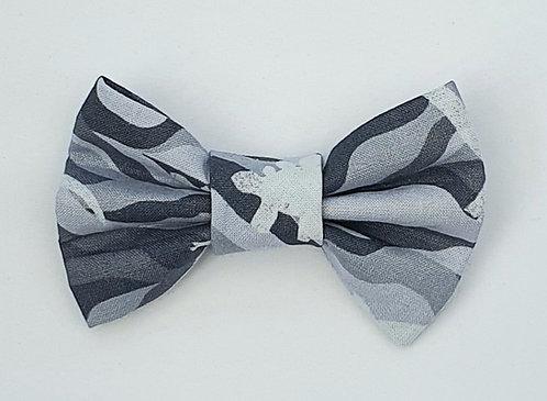 Camo GREY DINO Print Dog Bow Tie
