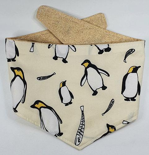 Xmas Penguin REVERSIBLE POPPER DOG BANDANA