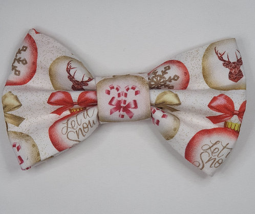 Xmas Baubles Dog Bow Tie ExclusiveD2P Print