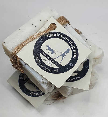 The Dog and i-50g Coconut Oil Soap with Lavander Oil and Poppy Seeds
