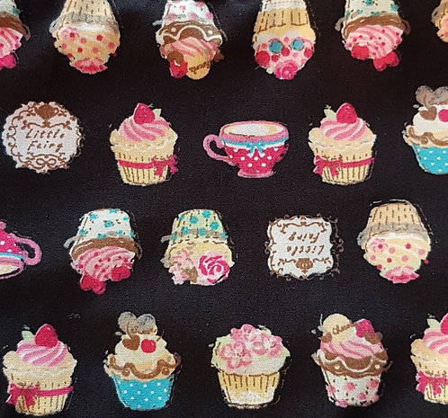 Cupcake Over Collar Dog Bandana