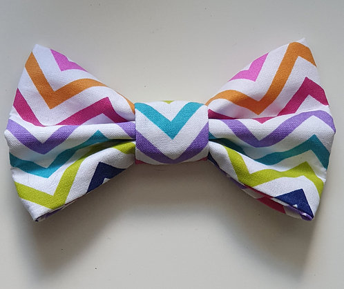 Zigzag Brights Dog Bow Tie