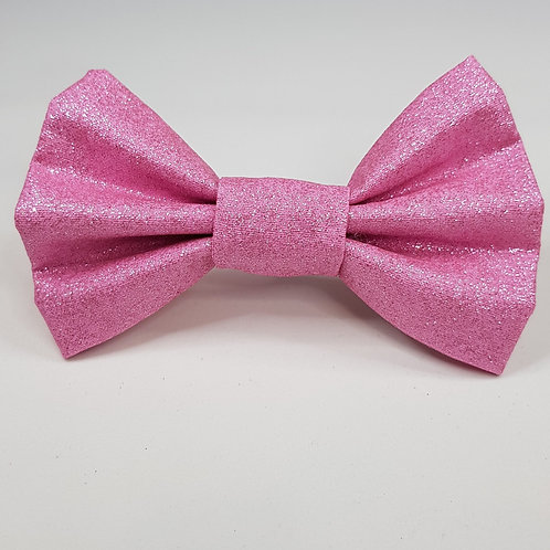 Pink Shimmer Fabric Dog Bow Tie