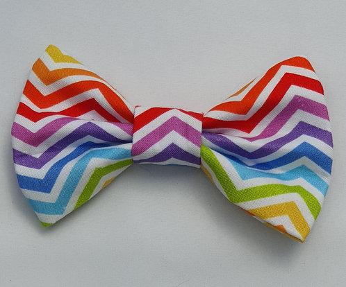 Zigzag RAINBOW Dog Bow Tie