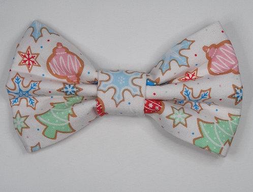 Xmas Snowflakes Dog Bow Tie