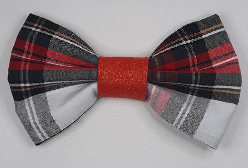Xmas Tartan RED Dog Bow Tie