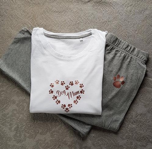 Dog Mum Pyjamas WHT/GRY