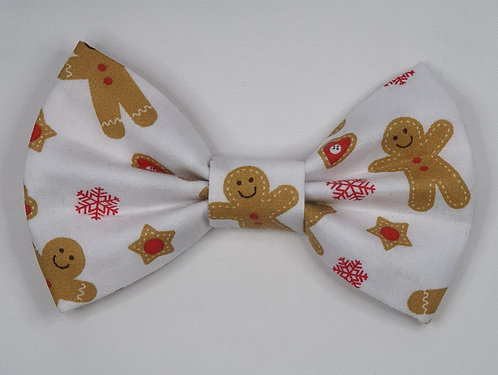 Gingerbread Dog Bow Tie