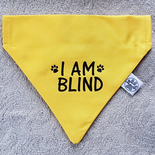 I AM DEAF/ I AM BLIND Dog Bandana