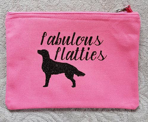 Dog Print Zip Pouch FABULOUS FLATTIES
