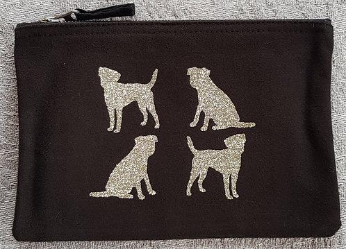 Dog Print Zip Pouch BORDER TERRIER