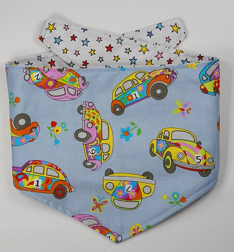 Beetle Car REVERSIBLE POPPER DOG BANDANA
