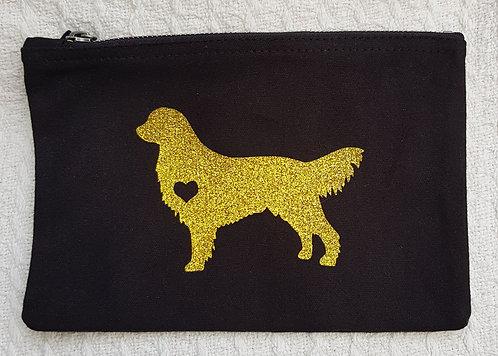 Dog Print Zip Pouch GOLDEN RETRIEVER