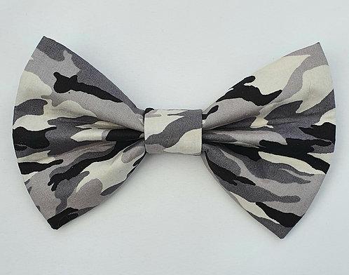 Camo GREY Print Dog Bow Tie