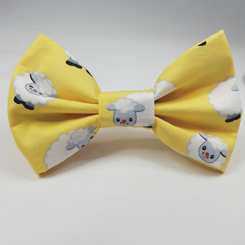 Sheep Print Dog Bow Tie