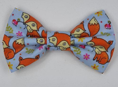 Foxy Blue Dog Bow Tie