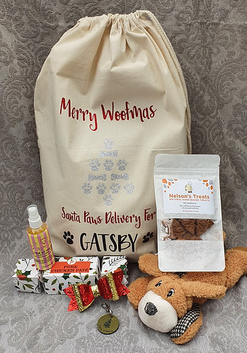 PERSONALISED XMAS SACK with GOODIES