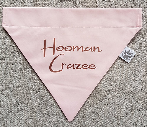 HOOMAN CRAZEE Metallic or Glitter print Dog Bandana PINK