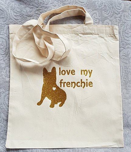 Love My Frenchie Shopping Bag