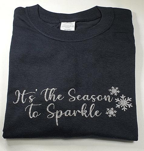 It's The Season To Sparkle Tee BLACK