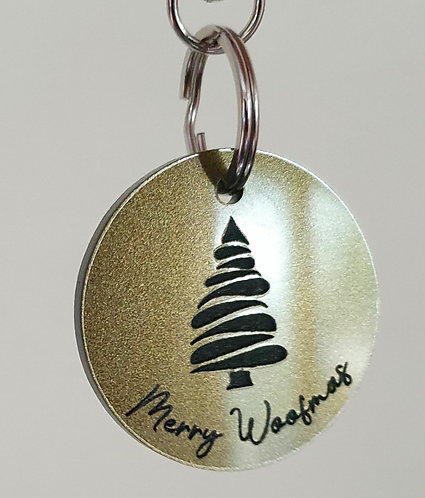 Exclusive Xmas Merry Woofmas Dog Tag by Jeff and Co