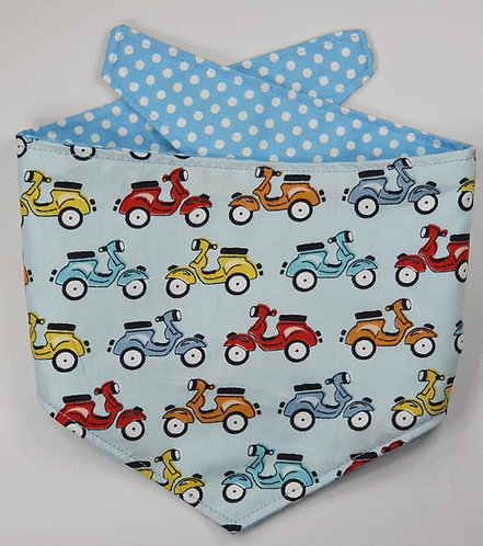 Scooter REVERSIBLE POPPER DOG BANDANA