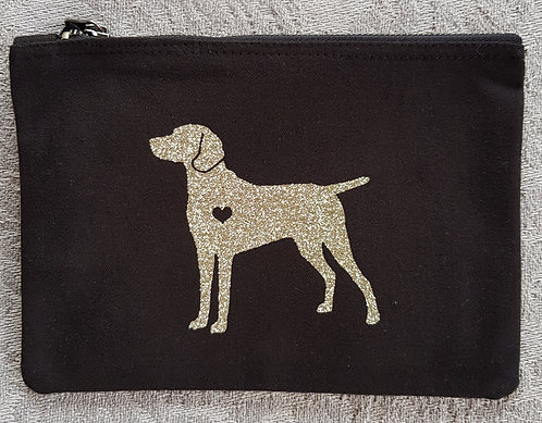 Dog Print Zip Pouch WEIMERANER PRINT