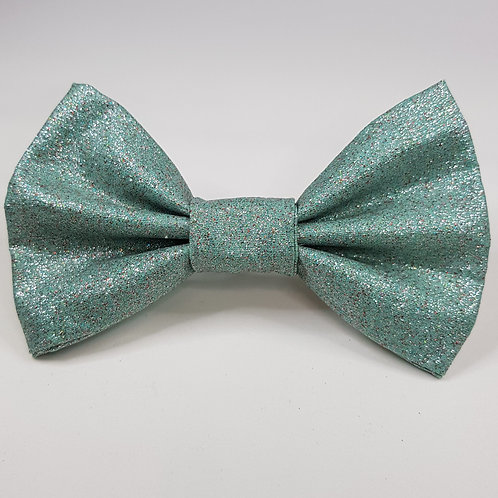 MINT Shimmer Fabric Dog Bow Tie