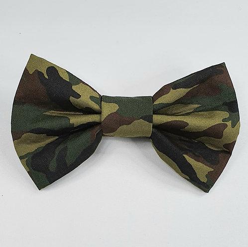 Camo GREEN Print Dog Bow Tie